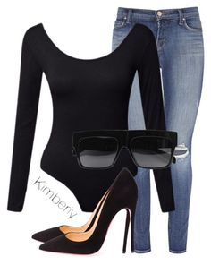 """Untitled #1523"" by whokd ❤ liked on Polyvore featuring J Brand, Christian Louboutin and CÉLINE"