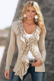 All ruffled up sweater    $69.00 via Boston Proper