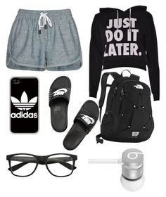 """""""Just do it LATER•laziness•"""" by mariannaok ❤ liked on Polyvore featuring rag & bone/JEAN, NIKE, The North Face, adidas and Beats by Dr. Dre"""