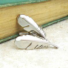 feather cufflinks