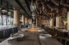 YOD Design Lam has recently completed Spicy No Spicy, an Asian Kitchen and Bar in Kiev where spices play a fundamental role. Luxury Restaurant, Restaurant Design, Restaurant Bar, Pop Design, Design Lab, Sketch Design, Design Concepts, Urban Design, Graphic Design