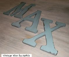 Painted/Distressed wooden letters for wall