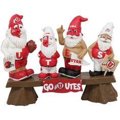 Utah Utes Fan Gnome Bench