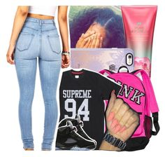 """My style doin damage, diamonds they dancin"" by theyknowtyy ❤ liked on Polyvore featuring Victoria's Secret, Casetify and NIKE"