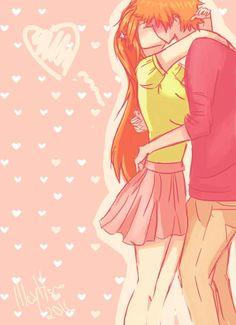 just a kiss. Bleach Art, Bleach Manga, Anime Amor, Manga Anime, Ichigo E Orihime, Bleach Couples, Card Captor, Basara, Anime Nerd