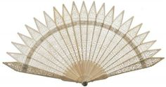 Perforated bone fan, French, 1830-1835.