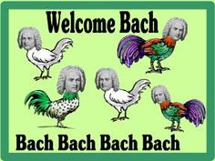 """Website with tons of bulletin board ideas for your music classroom. """"Welcome Bach, Bach, Bach!"""" So cheesy. So good. Makes me smile."""