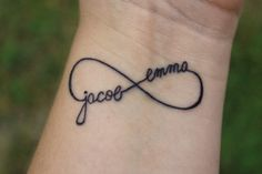 Loveable Tattoo On Wrist Beautiful Infinity Tattoo