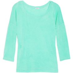 Splendid Vintage Whisper cotton slub-jersey top ($54) ❤ liked on Polyvore