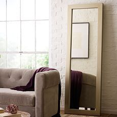 Parsons Floor Mirror - Silver Paint