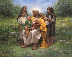 Jesus & children by Jon McNaughton