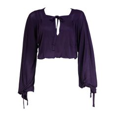 Pre-owned Holly's Harp Peasant Blouse ($275) ❤ liked on Polyvore featuring tops, blouses, shirts, vest, shirts & blouses, tie dyed shirts, men shirts and purple shirt