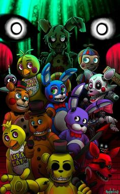 Fnaf 1 2 and 3 animatronics