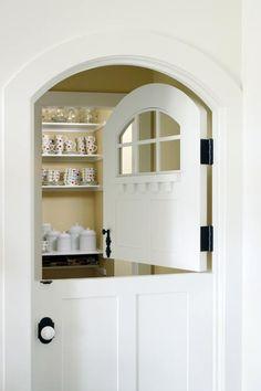 I agree. love this dutch door-how cute would this be for a mudroom, pantry, laundry or even a bedroom door Half Doors, Windows And Doors, Front Doors, Red Doors, Front Desk, Door Design, House Design, Exterior Design, Cottage Door