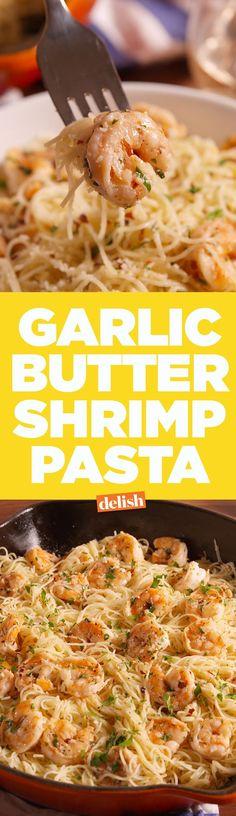 Más Recetas en https://lomejordelaweb.es/ | No one can resist this Garlic Butter Shrimp Pasta. Get the recipe on Delish.com.