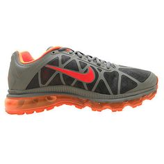 new style d9178 427e8 Nike Air Max 2011 Mens 684530-006 Tumbled Grey Orange Running Shoes Size 9.5