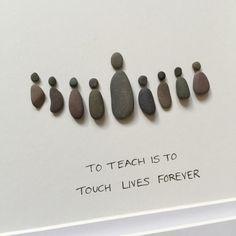 Teacher gifts Pebble Art Pebble Art Picture Teacher by SSPebbleArt