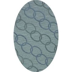 Dalyn Rug Co. Bella Blue Blue Area Rug Rug Size: Oval 12' x 15'