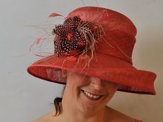 With an unusual channel around the brim, drawing the eye to the floral centerpiece made from speckled feathers in different tones - this beautiful pink Hat Would be perfect for anybody wishing to make a statement. Different Tones, Pink Hat, Floral Centerpieces, Captain Hat, Feather, Hats, Beautiful, Products, Fashion