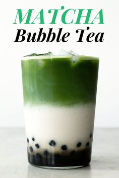 Get my tips and tricks to make this delicious and refreshing matcha bubble tea (boba tea) at home without any fancy tools. Matcha Milk, Matcha Green Tea, Bubble Tea Straws, Green Tea Drinks, Green Teas, How To Make Matcha, Best Matcha, Green Tea Recipes, Juice Recipes