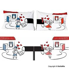 """BOLDLOFT """"My Heart Is After You"""" Couple Pillowcases-His and Hers Gifts for Couples,Romantic Anniversary Gifts,Valentines Day Gifts for Him for Her,Gifts for Him,Gifts for Her"""