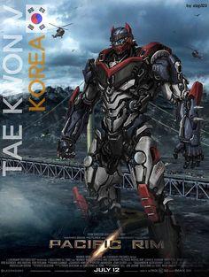 Tae Kwon V Korea Pacific Rim Jaeger | Pacific Rim Korea by ~xlzp123