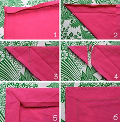 Mitred Hem - from Mme ZsaZsa (Dutch Easy Sewing Projects, Sewing Hacks, Sewing Tutorials, Sewing Crafts, Beginner Quilt Patterns, Quilting For Beginners, How To Make Clothes, Diy Clothes, Sewing Paterns