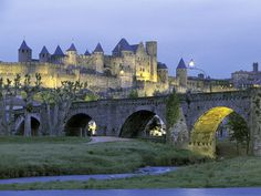 Carcassonne castle in the south of France. #ridecolorfully