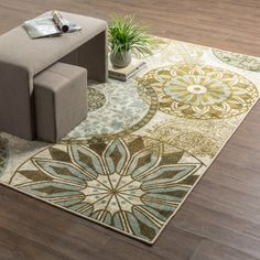 Mohawk Home New Wave Inspired India Light Multi Rug, 7'6 x 10'