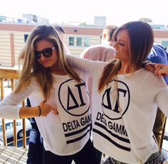 Great sorority shirts... use heat transfer materials and a heat press to make yours.