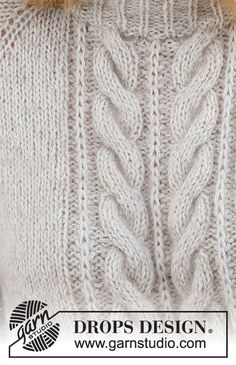 Easy Sweater Knitting Patterns, Knitting Stitches, Knitting Designs, Knit Patterns, Free Knitting, Baby Knitting, Drops Design, Big Knits, Crochet Diagram