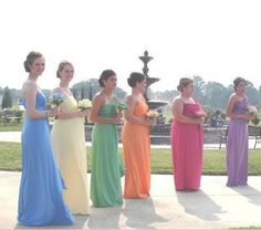 Multicolor bridesmaid dresses...a possibility...