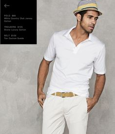 J. Hilburn Classic Summer. That custom tan suede belt with white top stitch makes the look