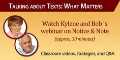 Notice and Note Resources from Kylene and Bob