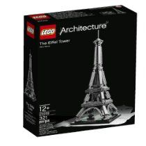 Presenting the LEGO Architecture interpretation of one of the most iconic landmarks ever constructed - The Eiffel Tower! Designed and built by French entrepreneur, Gustave Eiffel, the original 324-meter-tall masterpiece of wrought iron engineering formed the grand entrance to the 1889 World's Fair, held in Paris to celebrate the 100th anniversary of the French Revolution. During construction, the 18,038 wrought iron elements making up the tower's lattice structure were bolted together at Eif...