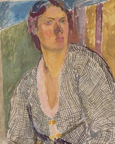 1915 SELF-PORTRAIT, Vanessa Bell (née Stephen; an English painter and interior designer, a member of the Bloomsbury Group and the sister of Virginia Woolf. Vanessa Bell, Virginia Woolf, Dora Carrington, Duncan Grant, Dulwich Picture Gallery, Bloomsbury Group, Post Impressionism, Famous Artists, Les Oeuvres