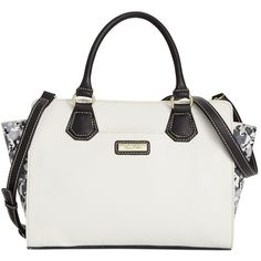 Marc Fisher Wildflower Small Trapezoid Satchel ($61) ❤ liked on Polyvore