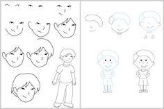 Techniques faciles pour apprendre à dessiner #enfants #garçon