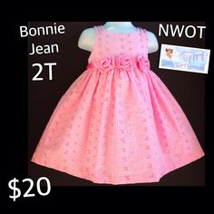 Bonnie Jean  Pink Gorgeous Dress 2T Toddler Girls $20