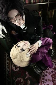 Claude Faustus, Alois Trancy. This is one of the best cosplays I have ever seen. 0-0 #kuroshitsuji