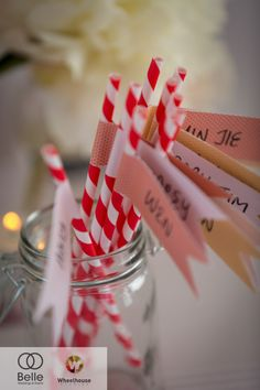 Personalised straws for the guests