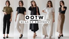 38771fd537aa OOTW  Outfits Ideas For August 2018 - Week of Outfits