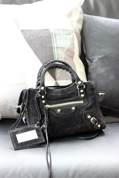 Suede Balenciaga Mini City Bag, bag, сумки модные брендовые, bags lovers, http://bags-lovers.livejournal