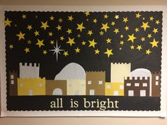 Children's ministry, church, Christmas bulletin board
