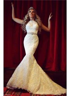 Beading Floor-Length Sleeveless Spring Natural Church Jewel Hall Wedding Dress