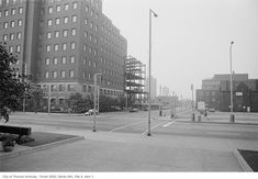 I was browsing old images of our city to compare street corners and corner stores from the past to what they looks like now. Toronto Ontario Canada, Old Images, Present Day, Vintage Photographs, Nostalgia, The Past, Corner, Street View, City