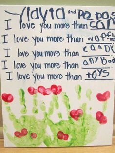 I Love You More Than Keepsake; make a keepsake and add in some writing practice, too!