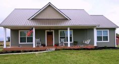 Metal a Building Home LOVE!! Needs a pantry and tweak the master bath. Push out walls to make bedrooms bigger.
