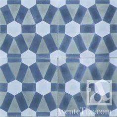 "Traditional Diamond Cement Tile 8"" x 8"" [Item: AC1688]"