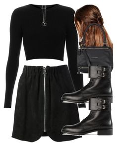"""""""Untitled #3365"""" by wallenbergnikki ❤ liked on Polyvore featuring Acne Studios, Topshop, ASOS, Givenchy and Yves Saint Laurent"""